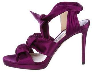 Jimmy Choo Satin Knotted Sandals