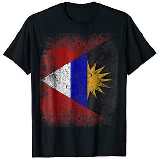 Antigua Flag Vintage Aged Distressed T-Shirt