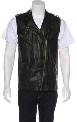 Current/Elliott Oversized Lambskin Moto Vest