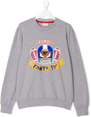 Fendi TEEN Fendirumi print sweatshirt