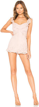 BCBGeneration Lace Ruffle Romper