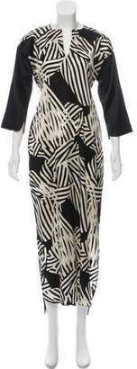 Zero Maria Cornejo Silk Animal Print Dress w/ Tags
