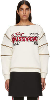 Gucci Ivory Pussycat Sweatshirt