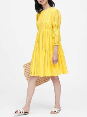 Banana Republic JAPAN EXCLUSIVE Eyelet A-Line Dress