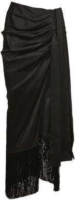 Magda Butrym Fringed Long Skirt