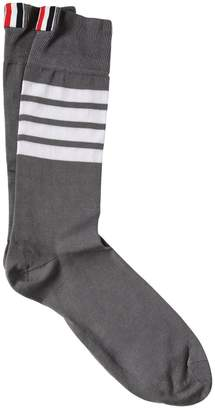 Thom Browne Mid-Calf Lightweight Cotton Socks