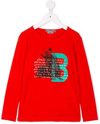 Bonpoint Bear text print top
