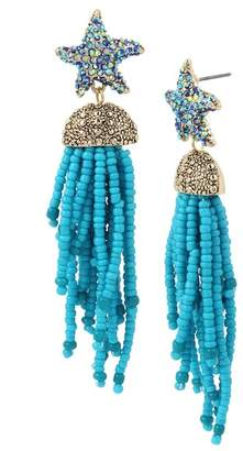 Betsey Johnson Starfish Tassel Drop Earrings
