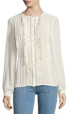 Nanette Lepore Pintuck Button-Down Shirt