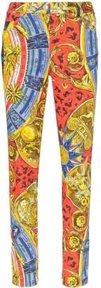 Moschino Greek Gods print skinny jeans