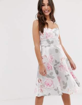 City Goddess Prom Floral Skater Dress