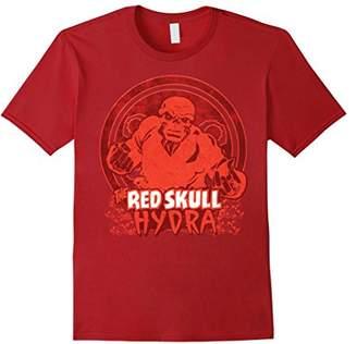 Marvel Red Skull Classic Retro Comic Skull Badge T-Shirt