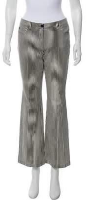 Akris Punto Striped Mid-Rise Jeans