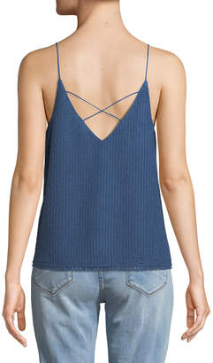 Moon River Textured Strappy Camisole Blouse