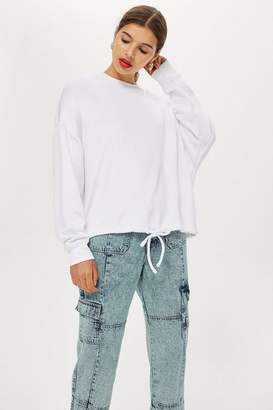 Topshop Slash Back Sweatshirt by Boutique