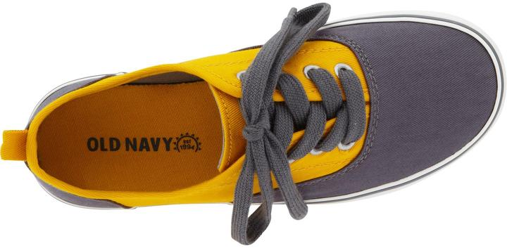 Old Navy Boys Color-Blocked Canvas Sneakers