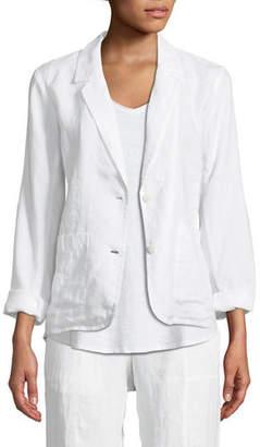 Eileen Fisher Organic Linen Blazer, Plus Size