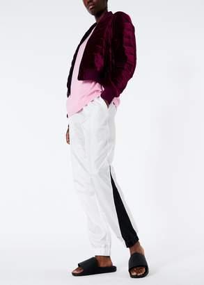 Tibi Quilted Velvet Cropped Jacket