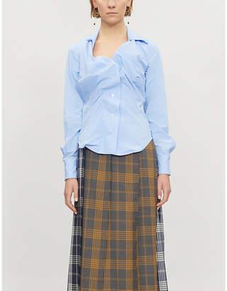 Vivienne Westwood Alcoholic ruched cotton shirt