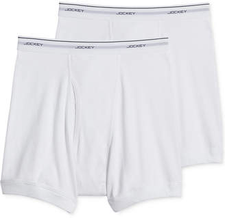 Jockey Men Classic Big Man Tagless Boxer Briefs 2-Pack