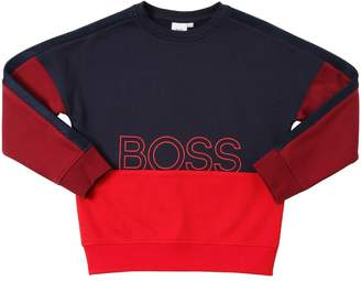 HUGO BOSS Logo Cotton Blend Sweatshirt