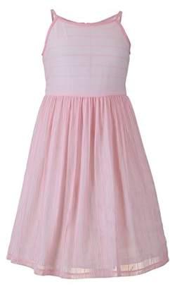 Emma Riley Girls' Camisole Bodice Stripe Dress With Sash