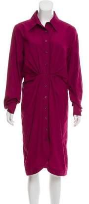 Saint Laurent Collared Midi Dress