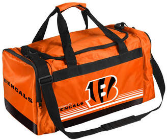 Forever Collectibles Cincinnati Bengals Striped Core Duffle Bag