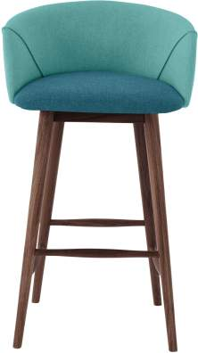 Lule Bar Stool, Mineral Blue and Emerald Green