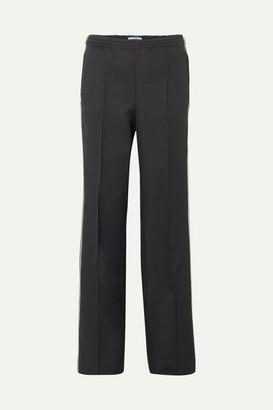 Prada Striped Gabardine Track Pants - Black