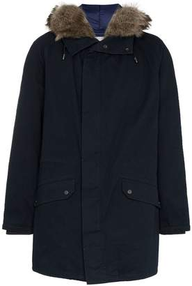 Yves Salomon hooded shearling parka jacket