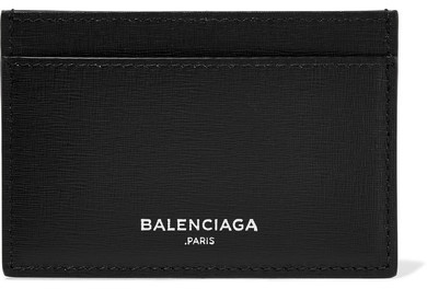 Balenciaga  Balenciaga - Textured-leather Cardholder - Black