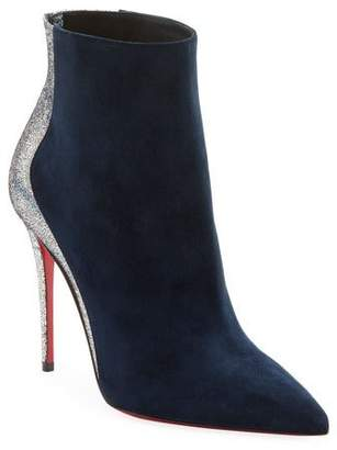 Christian Louboutin Delicotte Suede Red Sole Booties