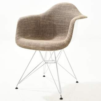 Poly and Bark Padget Padded Arm Chair in Taupe