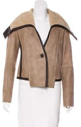 Derek Lam Shearling Oversize Collar Jacket