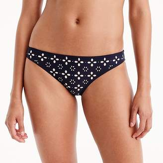 J.Crew Lowrider bikini bottom in laser-cut eyelet