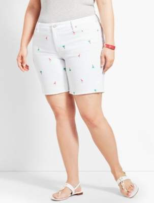 "Talbots 7"" Flamingo Denim Short"