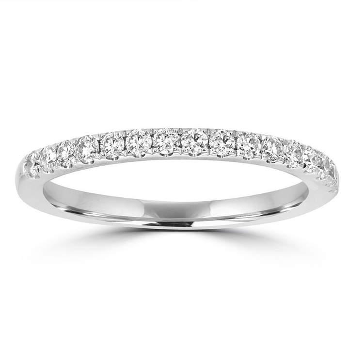 MODERN BRIDE Womens 1/3 CT. T.W. White Diamond 14K Gold Band