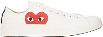 Comme des Garçons PLAY Men's Men's Chuck Taylor 1970's Low-Top Sneakers $125 thestylecure.com