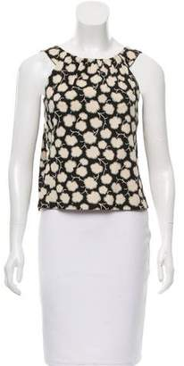 Oscar de la Renta Printed Sleeveless Top