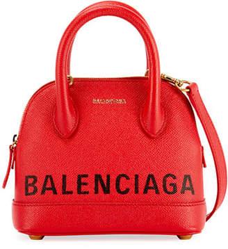 Balenciaga Ville XXS Pebbled Leather Top-Handle Tote Bag