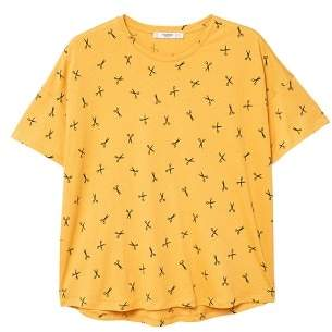 MANGO Printed cotton t-shirt
