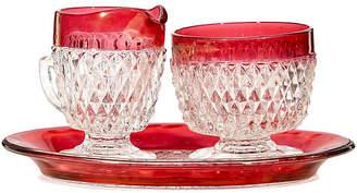 One Kings Lane Vintage Ruby Glass Sugar & Creamer Serving Set - 2-b-Modern