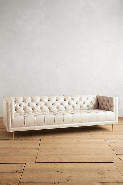 Anthropologie Anthropologie Premium Leather Mina Sofa