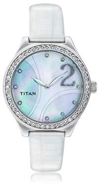 Titan Women's Quartz Metal and Leather Watch