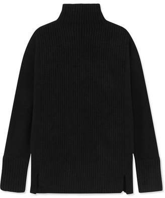 J.Crew Ira Ribbed Cashmere Turtleneck Sweater - Black