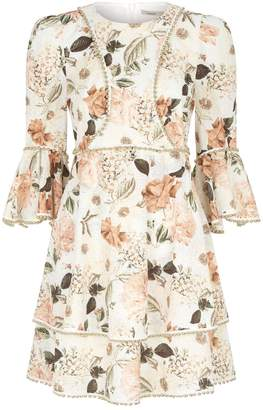 Thurley Ruse Flare Sleeve Floral Dress