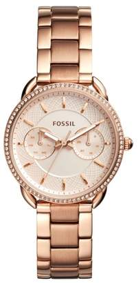 Fossil Tailor Crystal Multifunction Bracelet Watch, 35mm