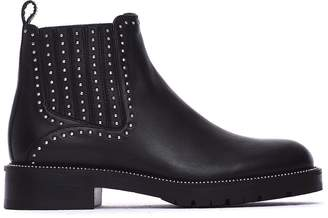 Janet & Janet Naomi Ankle Boots In Black Leather
