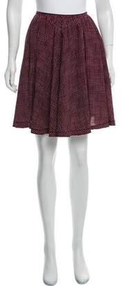 Marc Jacobs Silk Polka-Dot Skirt